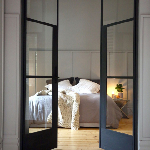 Steel Door to Bedroom by Steel & Smith