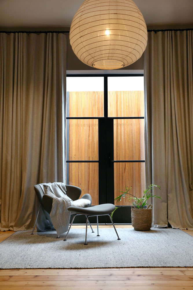 Steel Door with Curtains by Steel & Smith