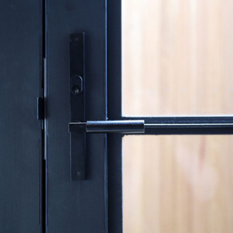 Handle on Steel Door by Steel & Smith