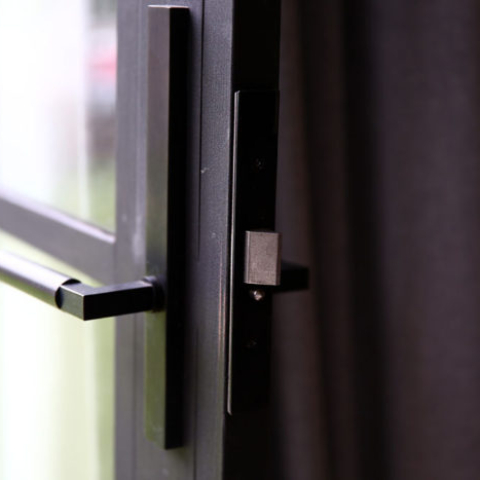 Lock on Steel Door by Steel & Smith