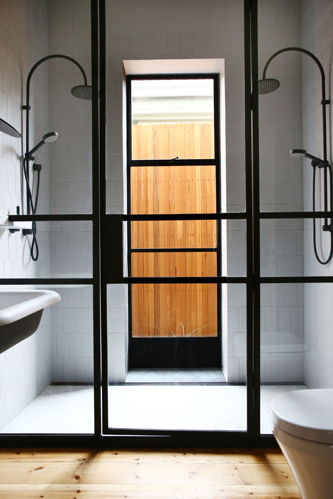 Custom Steel Shower Screen by Steel & Smith
