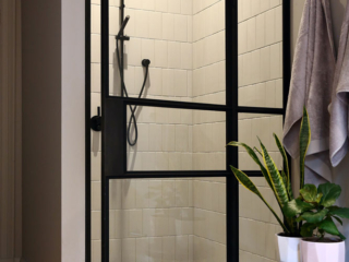 Custom Steel Shower Screen Steel Door by Steel & Smith
