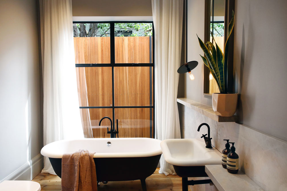 Steel Window in a Bathroom by Steel & Smith