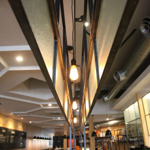 Gin Long restaurant panels by Steel & Smith