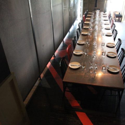 Fish Head restaurant table by Steel & Smith